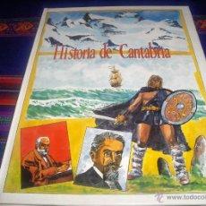 Cómics: HISTORIA DE CANTABRIA ILUSTRADA. ED. DE LIBRERÍA ESTUDIO 1990. TAPA DURA. 1990.. Lote 44138384
