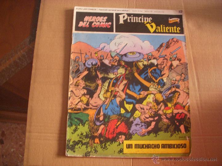 HEROES DEL COMIC, PRINCIPE VALIENTE Nº 32, EDITORIAL BURULAN (Tebeos y Comics - Buru-Lan - Principe Valiente)