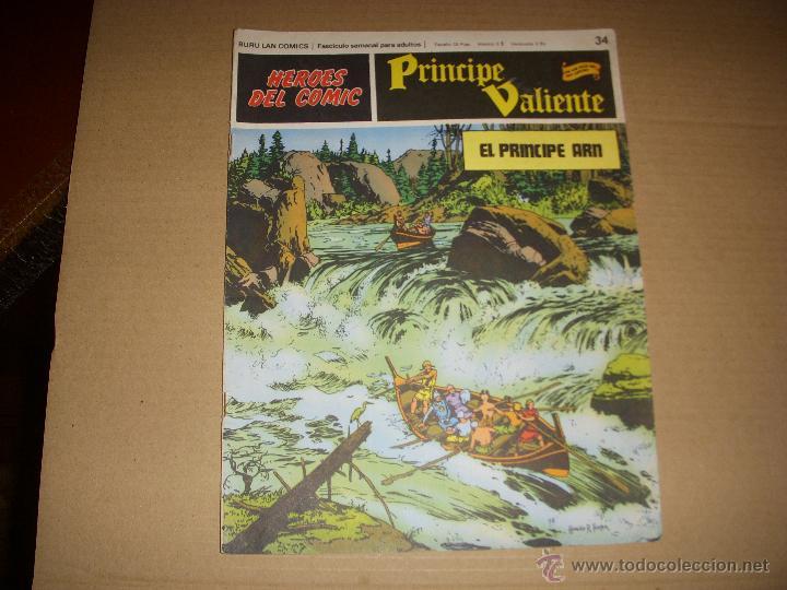 HEROES DEL COMIC, PRINCIPE VALIENTE Nº 34, EDITORIAL BURULAN (Tebeos y Comics - Buru-Lan - Principe Valiente)