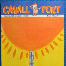 Comics : CAVALL FORT - 1995 - Nº 793 - 794 - EXTRA D' ESTIU - NUMERO DOBLE. Lote 45417799