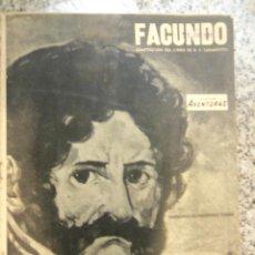 Cómics: FACUNDO, DE DOMINGO F. SARMIENTO - COLECCIÓN AVENTURAS (1947) ARGENTINA - MATERIAL UNICO!. Lote 45893408