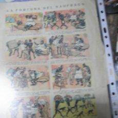 Cómics: TEBEO ANTIGUO LA FORTUNA DEL NAUFRAGO DE RAPIDA S.A. PROHIBIDA SU REPRODUCCION. Lote 46873163