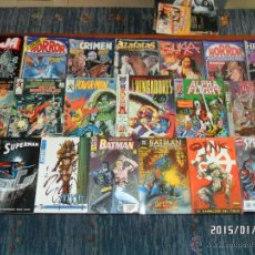 Cómics: LOTE 23 COMICS: VÉRTICE SUPERMAN BATMAN HORROR SUKIA JAUJA SPIDERMAN OINK JLA FORUM ERÓTICO!!!!!!!!!. Lote 47433864