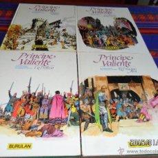 Cómics: PRÍNCIPE VALIENTE NºS 1 2 3 4 COMPLETA TAPA DURA. BURU LAN 1983. BUEN ESTADO.. Lote 47449156