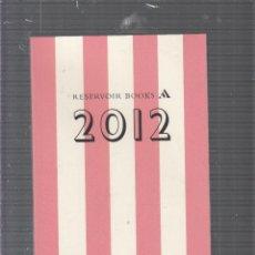 Cómics: RESERVOIR BOOKS 2012. Lote 47619008