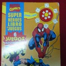 Cómics: SUPER HÉROES LIBRO DE JUEGOS - MARVEL COMIC 6 JUEGOS - LOBEZNO, SPIDERMAN, PATRULLA X, ETC - RARO -. Lote 243687585
