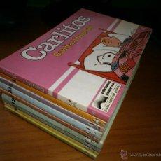 Cómics: LOTE 8 TEBEOS CARLITOS Y SNOOPY - SCHULZ - Nº 4,5,7,8,9,10,11,12 - EDT LUMEN & GASCA - 1979.. Lote 48500478