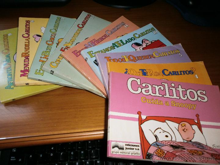 Cómics: LOTE 8 TEBEOS CARLITOS Y SNOOPY - SCHULZ - Nº 4,5,7,8,9,10,11,12 - EDT LUMEN & GASCA - 1979. - Foto 2 - 48500478
