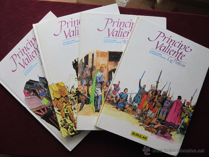 PRÍNCIPE VALIENTE. 4 ÁLBUMES TAPA DURA. COMPLETA BURULAN. HAROLD FOSTER. BURU LAN, 1983. TEBENI MBE (Tebeos y Comics - Buru-Lan - Principe Valiente)