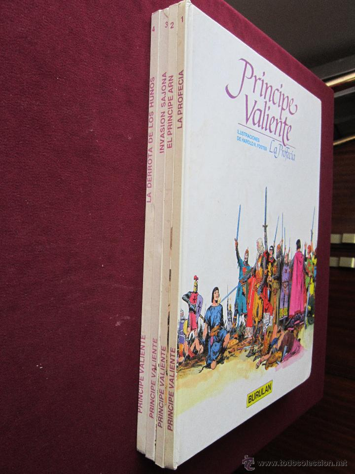 Cómics: Príncipe Valiente. 4 Álbumes tapa dura. Completa Burulan. Harold Foster. Buru Lan, 1983. tebeni MBE - Foto 2 - 48823570