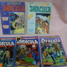 Cómics: DRACULA LOTE DE 5 COMICS FORUM Y ESCALOFRÍO (ESTOS DE REGALO). Lote 49124347