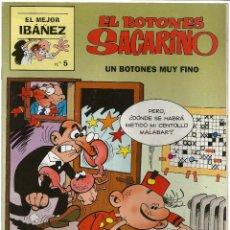 Cómics: EL MEJOR IBAÑEZ Nº 5 - EL BOTONES SACARINO - ED. PRIMERA PLANA - EDICIONES B. 1999. Lote 49327850