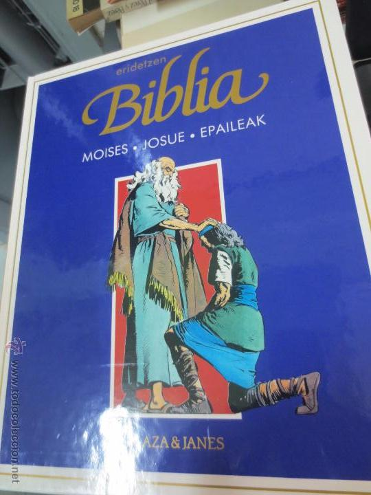 MOISES. JOSUE. EPAILEAK ERIDETZEN BIBLIA EDIT PLAZA&JANÉS AÑO 1985 (Tebeos y Comics - Comics otras Editoriales Actuales)