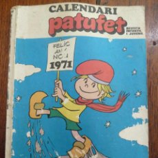 Cómics: F 3112 CALENDARIO CALENDARI PATUFET 1971. REVISTA INFANTIL I JUVENIL EN CATALAN. Lote 49716371