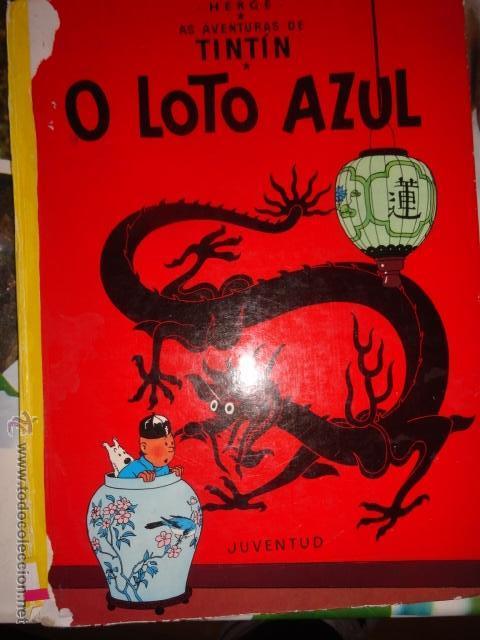 TINTIN O LOTO AZUL IDIOMAS GALEGO GALLEGO 1ª EDICCION MUY RARO (Tebeos y Comics Pendientes de Clasificar)