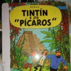 Cómics: TINTIN E OS PICAROS IDIOMAS GALEGO GALLEGO 1ª EDICCION MUY RARO . Lote 51201815