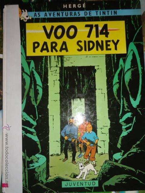 TINTIN VOO 714 PARA SIDNEY IDIOMAS GALEGO GALLEGO VUELO 714 PARA SIDNEY 1ª EDICCION MUY RARO (Tebeos y Comics Pendientes de Clasificar)