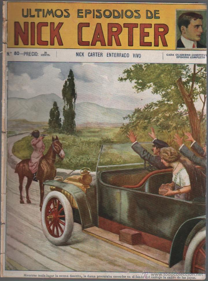COMIC EDITORIAL SOPENA - Nº 80 DE NICK CARTER (Tebeos y Comics Pendientes de Clasificar)