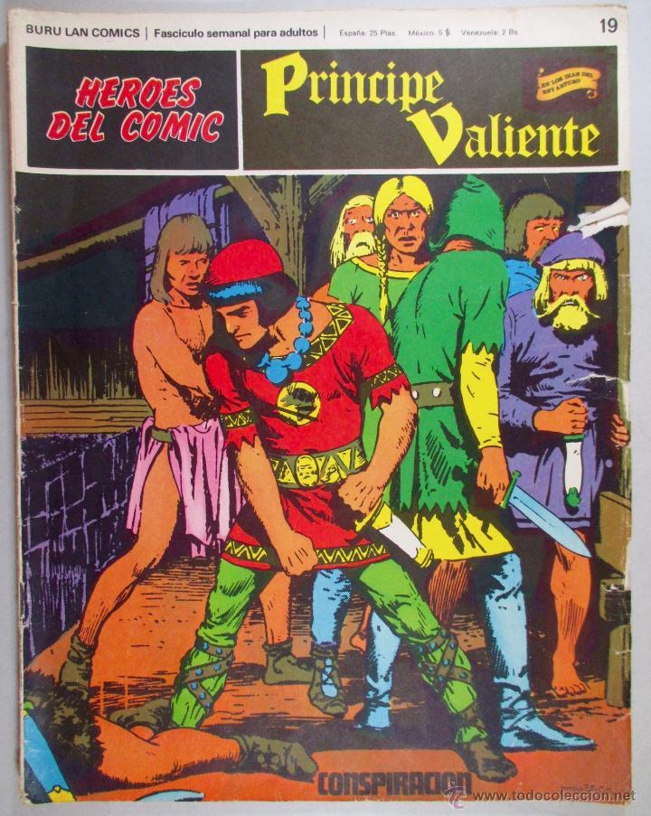PRINCIPE VALIENTE Nº 19 - BURU LAN - HÉROES DEL COMIC - ORIGINAL (Tebeos y Comics - Buru-Lan - Principe Valiente)