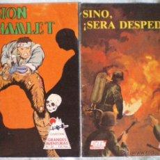 Cómics: COMIC COLECCIÓN GRANDES AVENTURAS GTS 26 SI NO, SERÁ DESPEDIDO-32 MISIÓN HAMLET NUEVOS 1985. Lote 51724296
