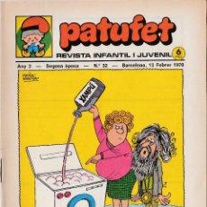 Fumetti: PATUFET REVISTA INFANTIL I JUVENIL - COMIC - SEGONA EPOCA - ANY 1970 - Nº 32 -. Lote 52020100