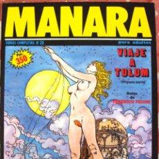 Cómics: COMIC MILO MANARA NUMERO 20 VIAJE A TULUM GUION DE FEDERICO FELLINI 1ªPARTE. Lote 99333839