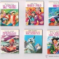 Cómics: LOTE 6 COMICS LIBROS PEQUEÑO TAMAÑO MINIBIBLIOTECA DE LA LITERATURA UNIVERSAL 1982. Lote 52368085
