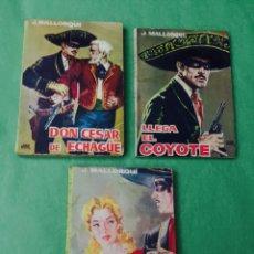 Cómics: EL COYOTE - J. MALLORQUI - PORTADA DE JANO - EDICIONES CID - LOTE Nº 1 - 12 - 18 (AÑO 1961). Lote 52612117