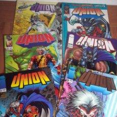Cómics: LOTE DE 6 COMICS UNION (Nº 0-1-2-3-4 Y 8) PLANETA - 1996. Lote 52622510
