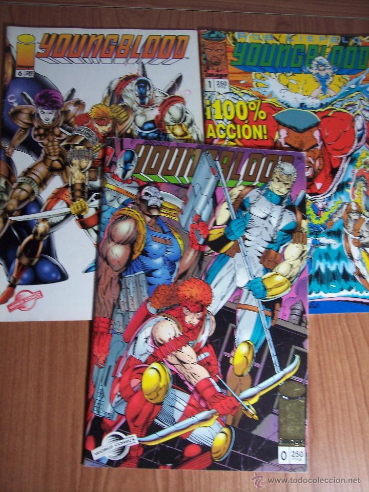 LOTE DE 3 COMICS YOUNGBLOOD Nº 0-1 Y 6 ) PLANETA 1994 (Tebeos y Comics - Comics Pequeños Lotes de Conjunto)