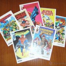 Cómics: LOTE POSTALES COMICS FORUM - AÑOS 80 - SPIDERMAN - ALPHA FLIGHT - CONAN. Lote 52807638