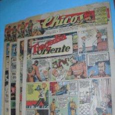 Cómics: 4 TEBEOS DE CHICOS, AÑO XIII, NUMEROS,, 355-356-361-363,DE 1945,. Lote 52845294