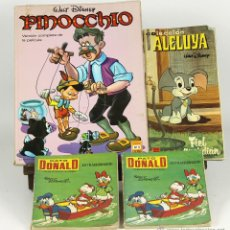 Cómics: 7111 - LOTE DE 4 EJEMPLARES. (VER DESCRIP). WALT DISNEY. EDI. RECREATIVAS. 1968/1972.. Lote 52880246