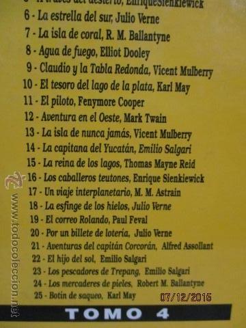 Cómics: GRANDES AVENTURAS. TOMO 4. EL PERIÓDICO. SALGARI. JULIO VERNE. KARL MAY Y OTROS. - Foto 8 - 53192941