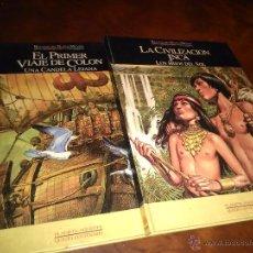 Cómics: RELATOS DEL NUEVO MUNDO, Nº 1 Y 2, PLANETA AGOSTINI-QUINTO CENTENARIO, PALACIOS-J-ORTIZ 1992,CARTON. Lote 53569299