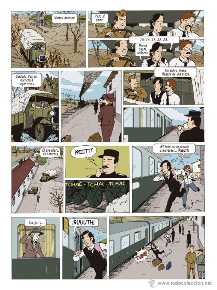 Cómics: Cómics. LAS AVENTURAS DE MIQUEL MENA 02. S.O.S. ZEPPELIN! - Pablo Herranz/José Luis Povo (Cartoné) - Foto 4 - 289216623
