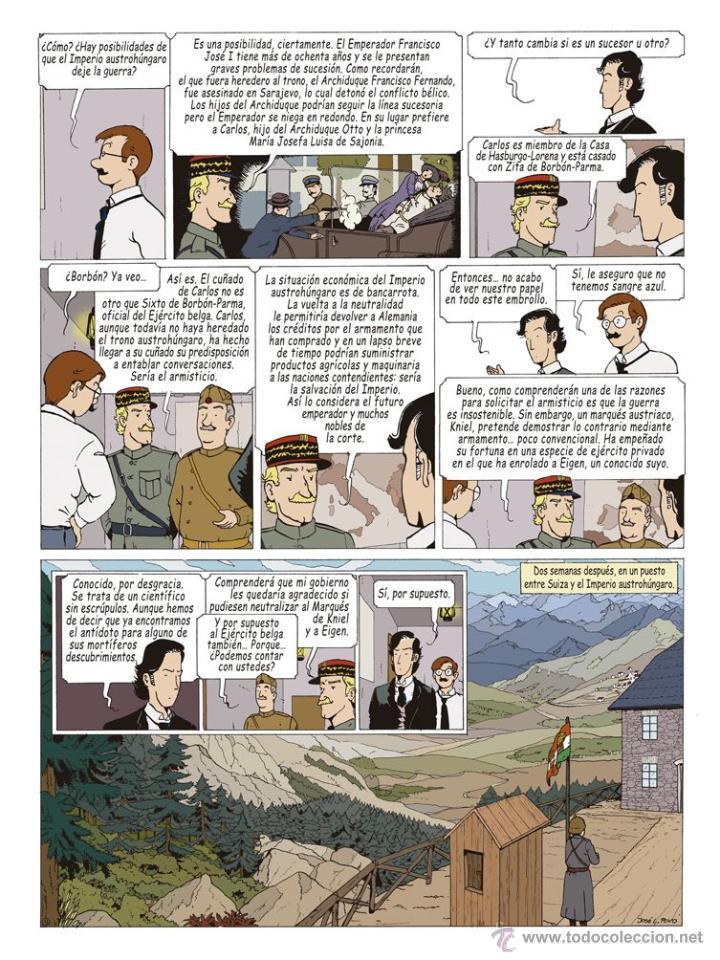 Cómics: Cómics. LAS AVENTURAS DE MIQUEL MENA 02. S.O.S. ZEPPELIN! - Pablo Herranz/José Luis Povo (Cartoné) - Foto 6 - 289216623