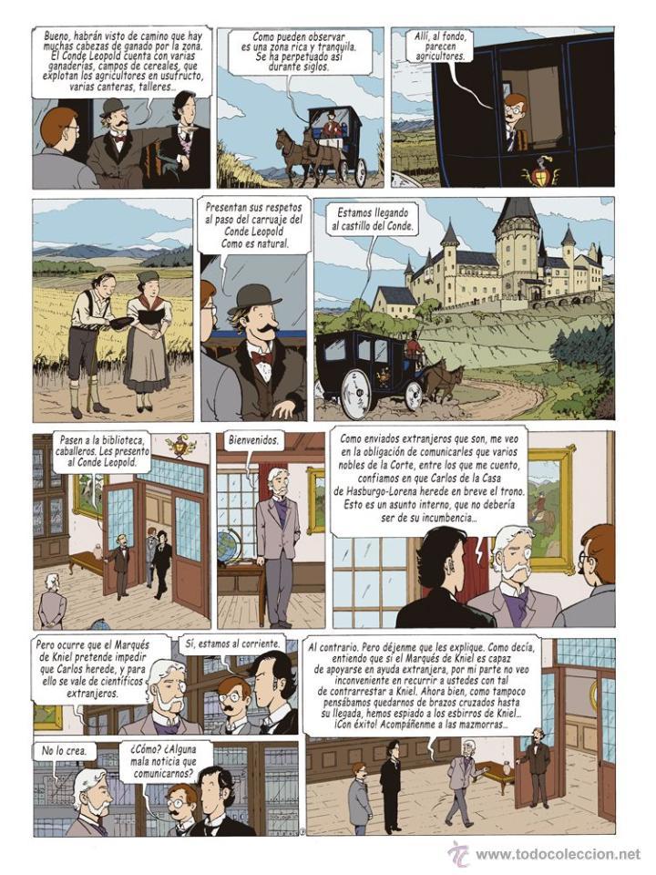 Cómics: Cómics. LAS AVENTURAS DE MIQUEL MENA 02. S.O.S. ZEPPELIN! - Pablo Herranz/José Luis Povo (Cartoné) - Foto 8 - 289216623