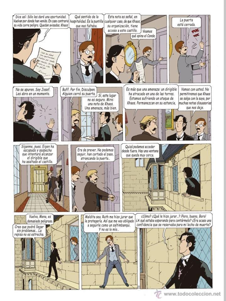 Cómics: Cómics. LAS AVENTURAS DE MIQUEL MENA 02. S.O.S. ZEPPELIN! - Pablo Herranz/José Luis Povo (Cartoné) - Foto 10 - 289216623