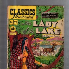 Cómics: CLASSICS ILLUSTRATED. Nº 75. THE LADY OF THE LAKE. Lote 53629746