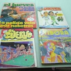 Cómics: 4 REVISTAS: 2 EL JUEVES - EL CUERVO - EL VIBORA. Lote 53716028