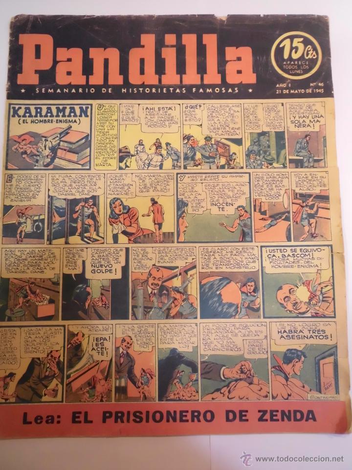 PANDILLA - SEMANARIO DE HISTORIETAS FAMOSAS - NUM 46 - 21 MAYO 1945 (Tebeos y Comics Pendientes de Clasificar)