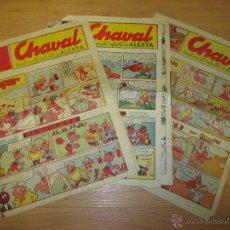 Cómics: LOTE 3 TEBEOS CHAVAL, SUPLEMENTO INFANTIL DE ALERTA, SANTANDER AÑOS 60 O 70. Lote 53805051