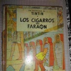 Cómics: AVENTURAS DE TINTIN, LOS CIGARROS DEL FARAON , SEGUNDA EDICION 2ª 1965 , ORIGINAL. Lote 54276439