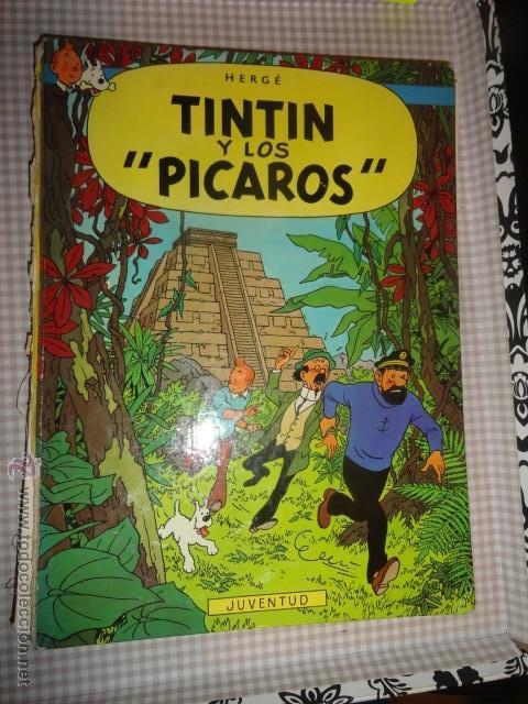 TINTIN Y LOS PÍCAROS DE HERGÉ - JUVENTUD 1ª EDICCION 1976 - (Tebeos y Comics Pendientes de Clasificar)