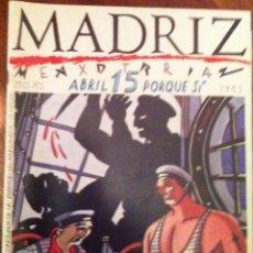 Cómics: MADRIZ Nº 15. 1985. Lote 54561005
