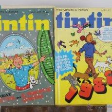 Cómics: 5742 - COMIC TINTIN. VARIAS EDICIONES. AÑOS 60/80. 5 EJEMPLARES.. Lote 48432507