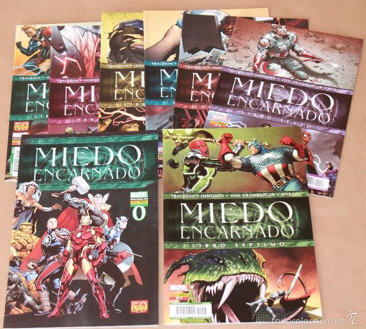MIEDO ENCARNADO 0 1 2 3 4 5 6 7 (COMPLETA 8 EJEMP.- SERIE PRINCIPAL) - PANINI 2011 - MUY BUEN ESTADO (Tebeos y Comics - Comics Pequeños Lotes de Conjunto)