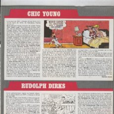 Cómics: HISTORIA DE LOS COMICS: FICHA DE CHIC YOUNG Y RUDOLPH DIRKS. Lote 55472887