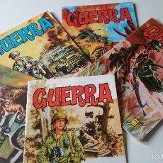 Cómics: 5 COMICS GUERRA Nº13,14,28,21, S/N EDICIONES VILMAR AÑOS 70. Lote 55826563